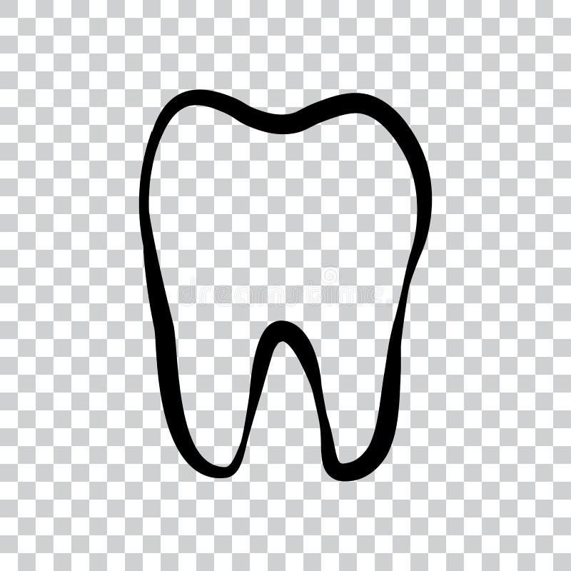 Ícone do logotipo do dente para o dentista ou os cuidados dentários do stomatology ilustração royalty free