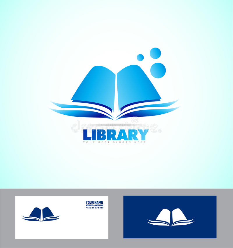 Cone Do Logotipo Do Livro Da Biblioteca Ilustra O Do