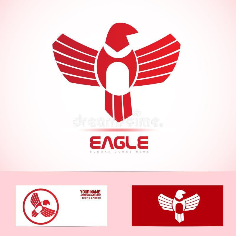 Ícone do logotipo do pássaro de Eagle ilustração stock