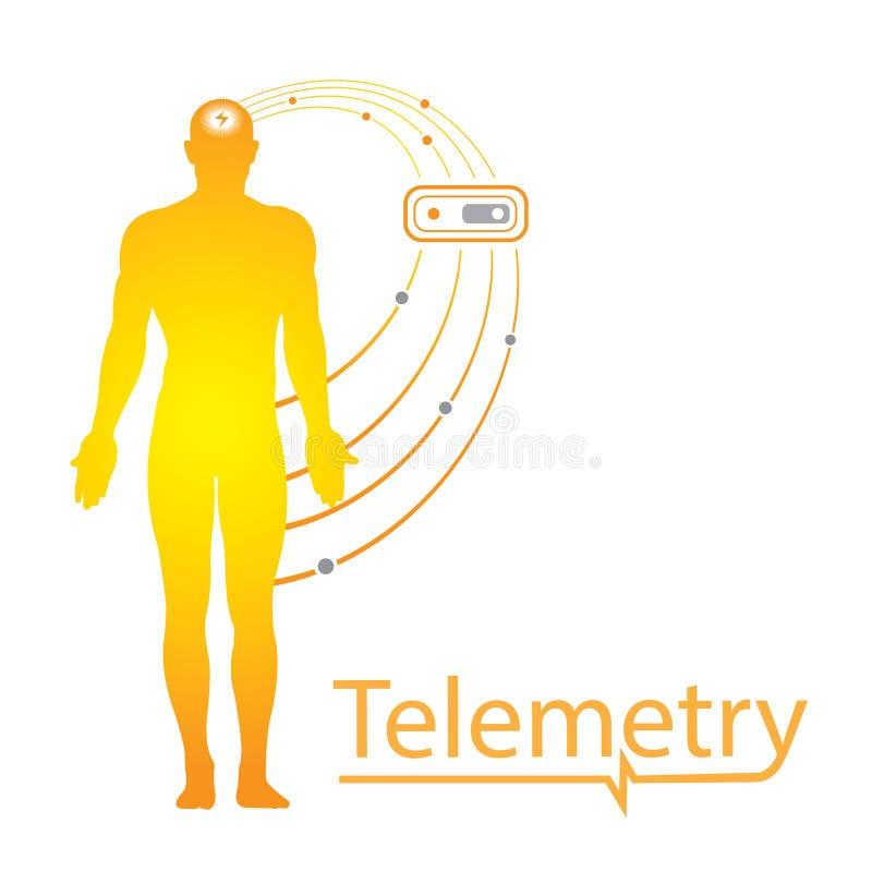 Ícone do logotipo do teste da telemetria ilustração royalty free