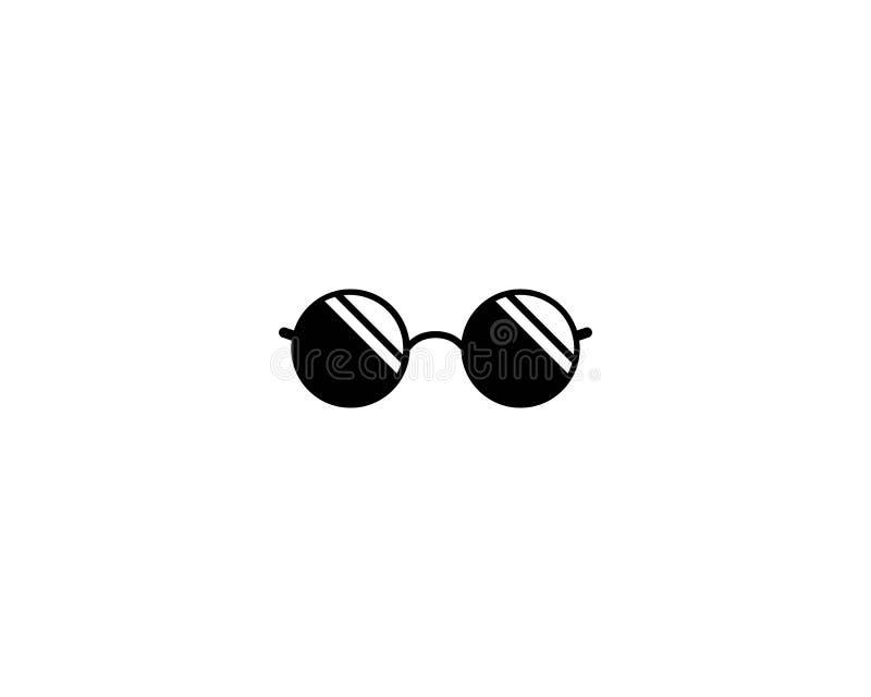 Ícone do logotipo dos vidros ilustração stock