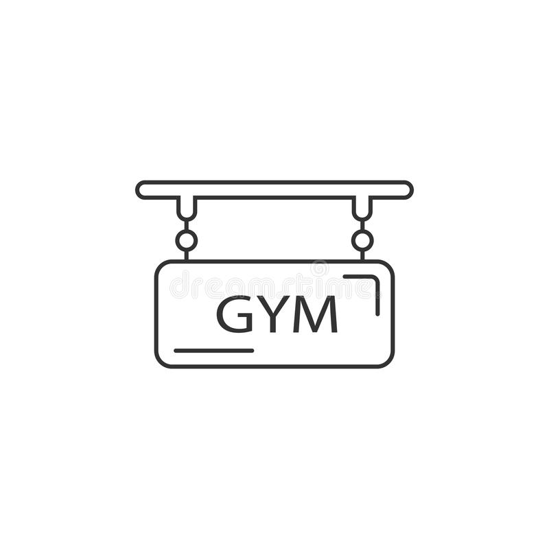 Ícone do logotipo do Gym Ilustração simples do elemento Molde do projeto do símbolo do logotipo do Gym Pode ser usado para a Web  ilustração royalty free
