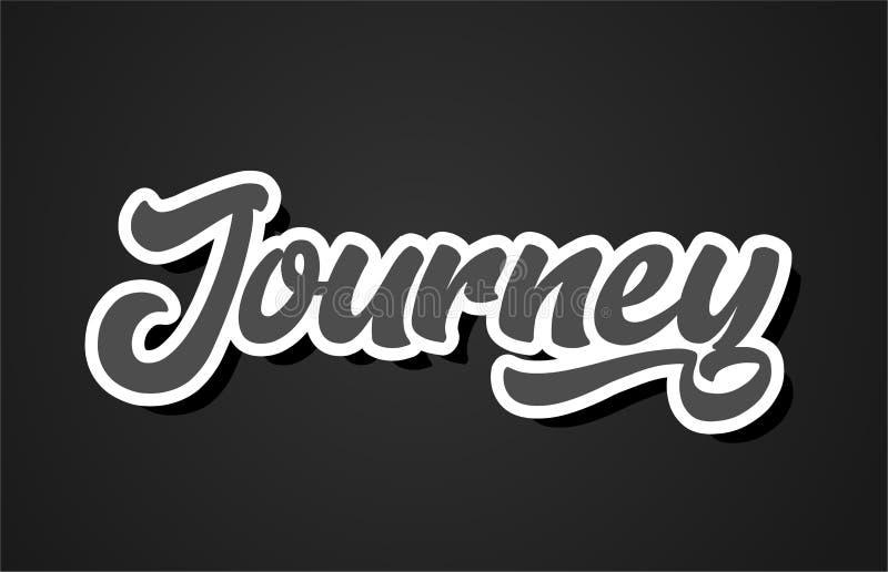 ícone do logotipo do projeto da tipografia do texto da palavra da escrita da mão da viagem ilustração stock