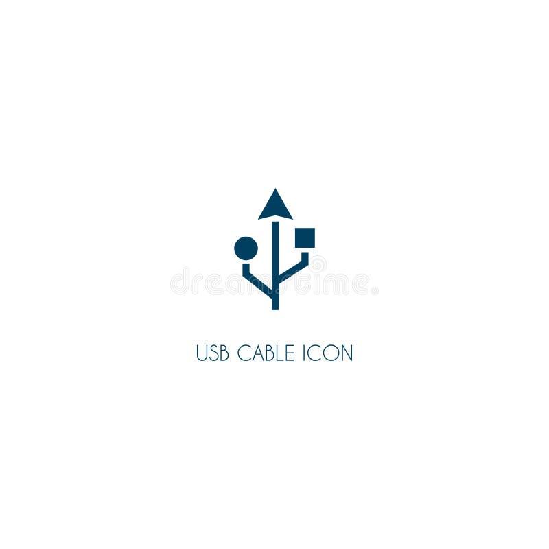 ícone do logotipo do usb símbolo moderno do vetor isolado no branco ilustração royalty free