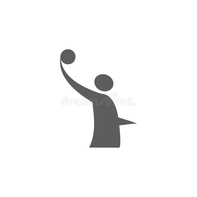 ícone do logotipo do voleibol Elemento do esporte para apps móveis do conceito e da Web Ícone para o projeto do Web site e o dese ilustração do vetor