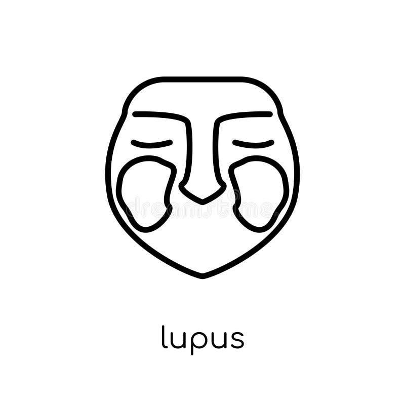 Ícone do lupus erythematosus  ilustração stock
