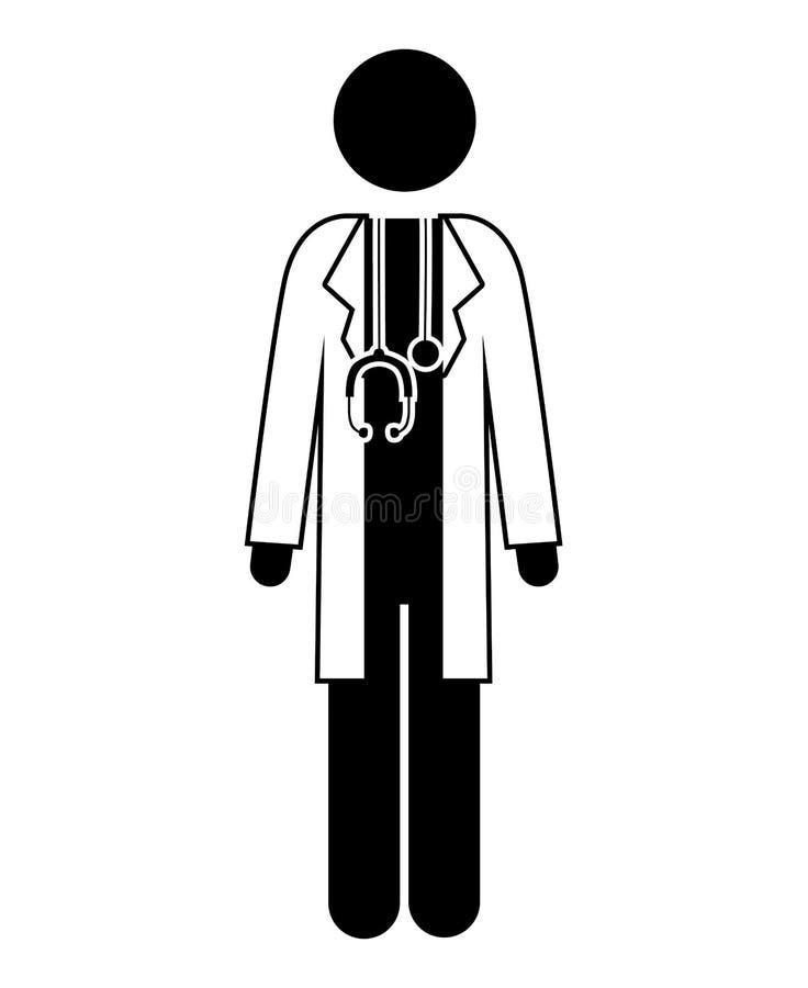 Ícone do médico ilustração royalty free