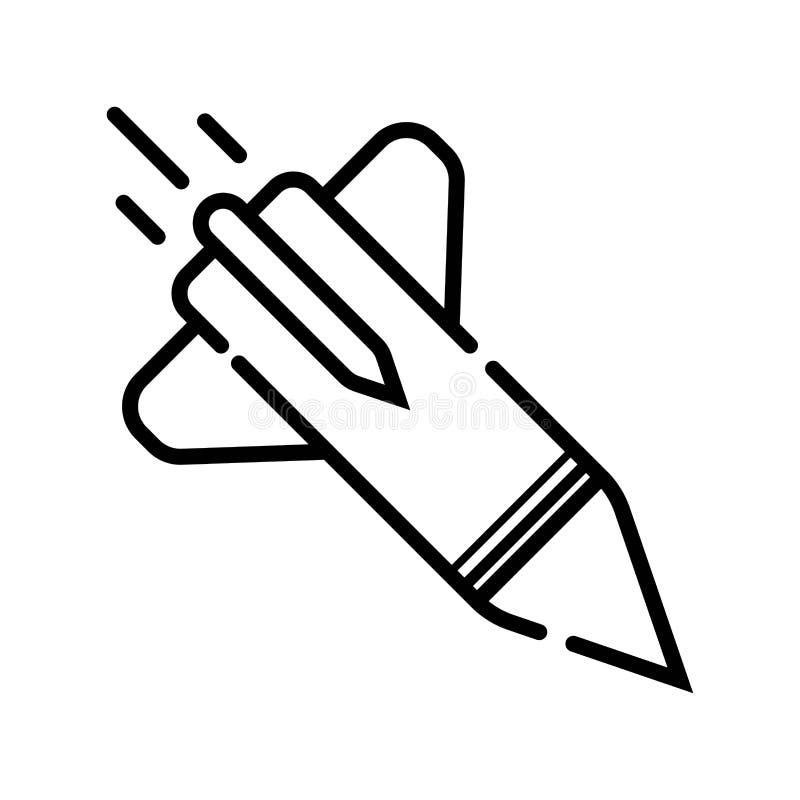 Ícone do míssil ilustração stock
