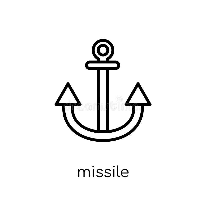 Ícone do míssil da coleção do exército ilustração royalty free