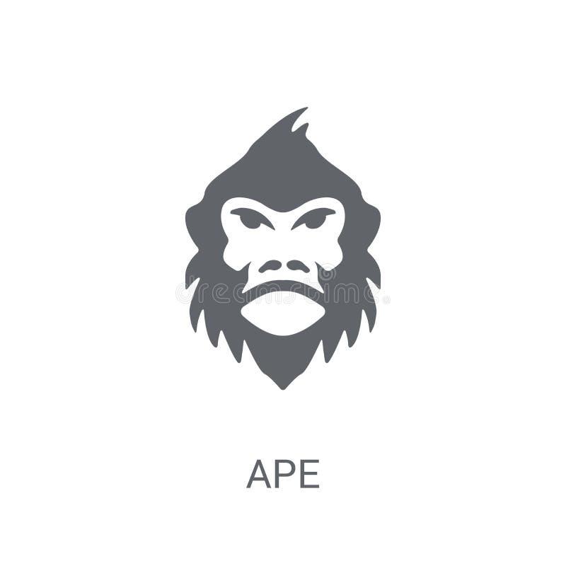 Ícone do macaco  ilustração do vetor