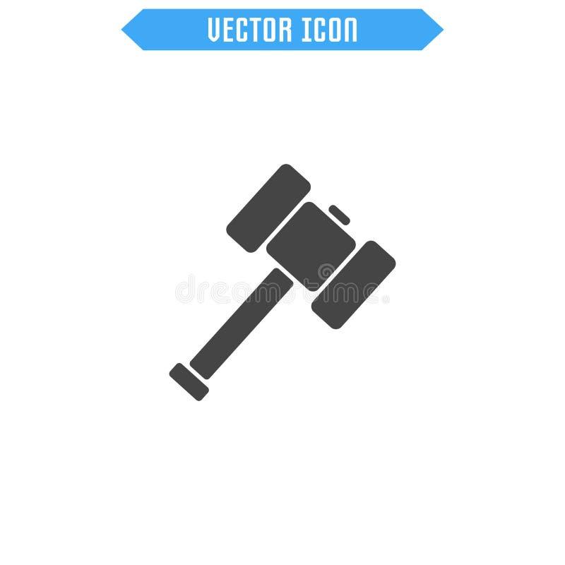 Ícone do malho liso Martele o ícone símbolo do sinal do vetor ilustração royalty free