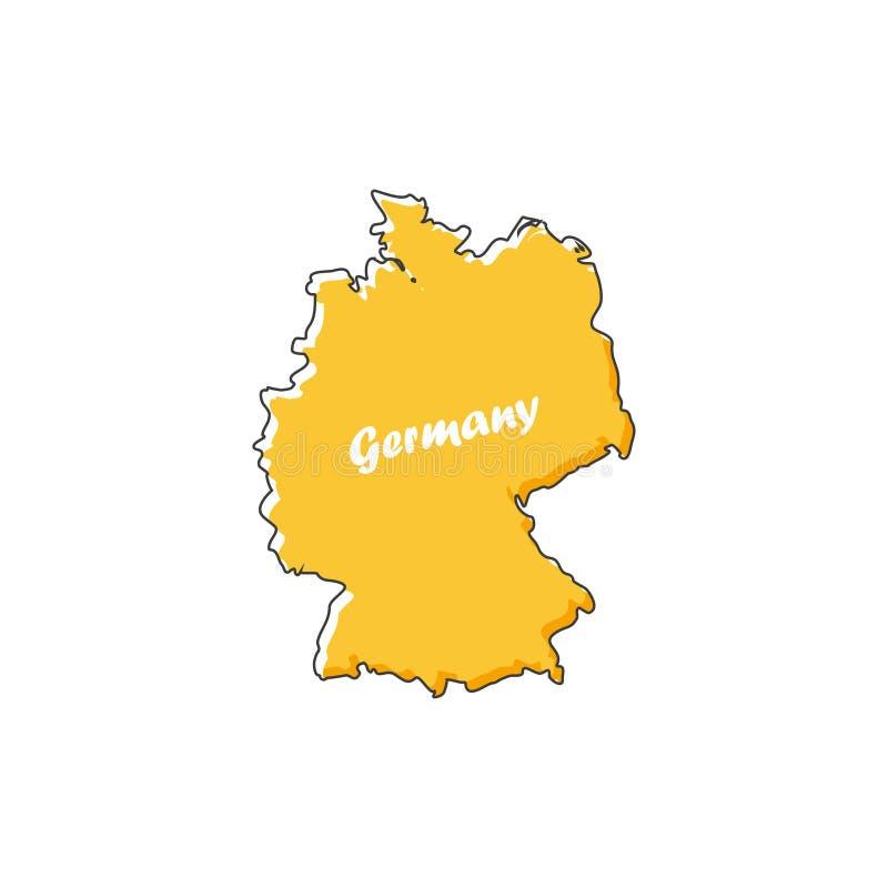 Ícone do mapa de Alemanha em um projeto liso Ilustração do vetor ilustração do vetor