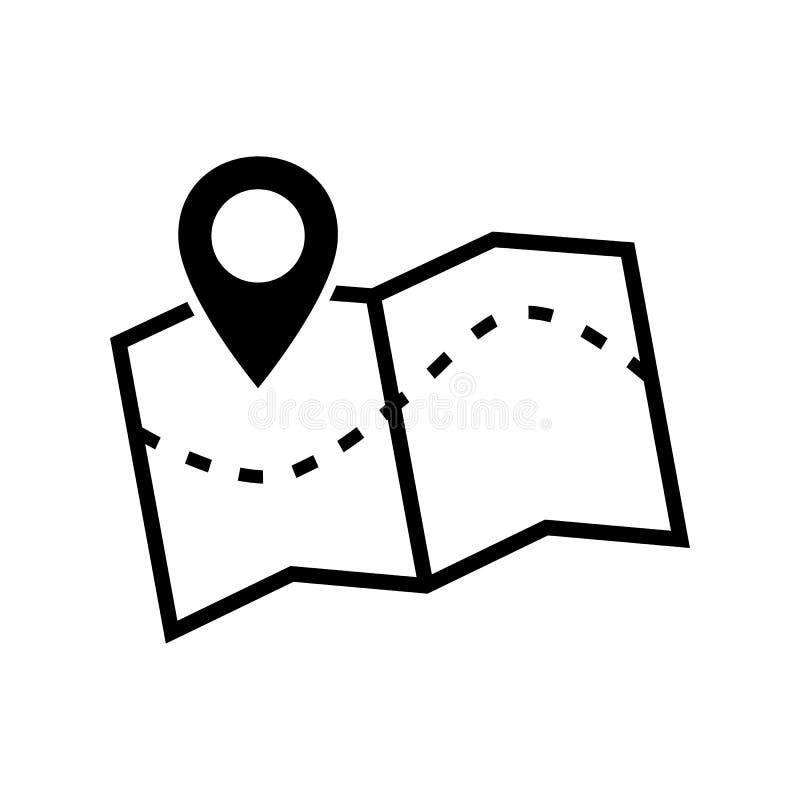 Ícone do mapa Imagem do vetor de um ícone do mapa de lugar ilustração royalty free