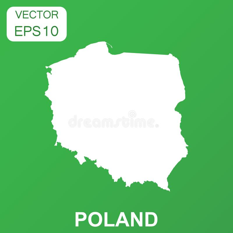 Ícone do mapa do Polônia Pictograma do Polônia do conceito do negócio Illus do vetor ilustração royalty free