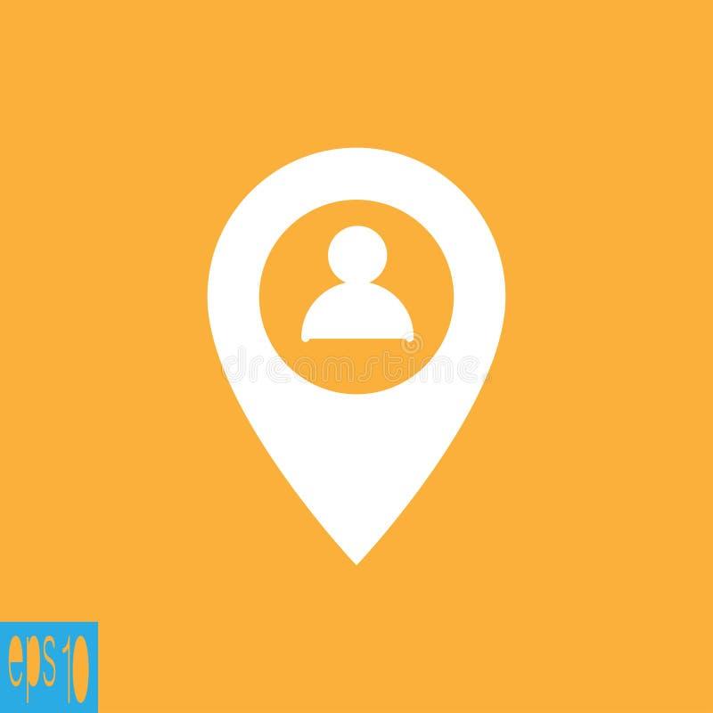 Ícone do mapa, ícone do usuário do perfil - ilustração do vetor ilustração do vetor
