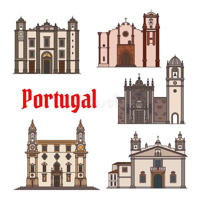 Ícone do marco do curso do português para o projeto do curso ilustração royalty free