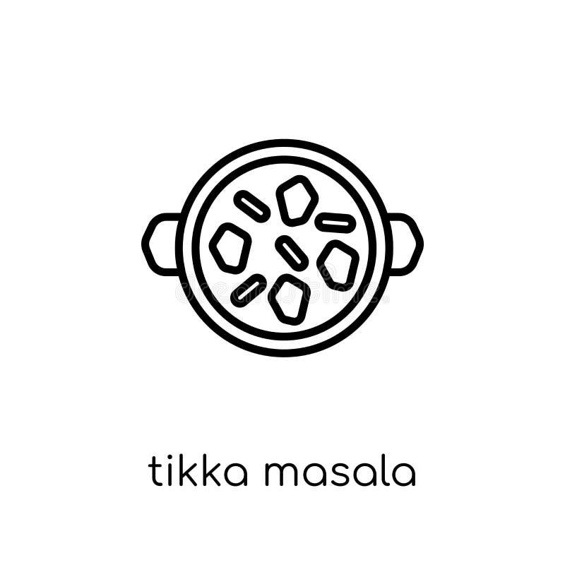 Ícone do masala de Tikka Masala linear liso moderno na moda de Tikka do vetor ilustração royalty free