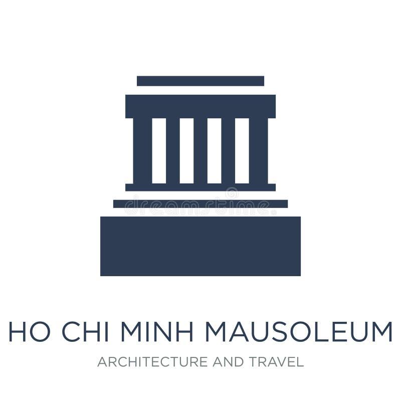 Ícone do mausoléu de Ho Chi Minh Mauso liso na moda de Ho Chi Minh do vetor ilustração stock