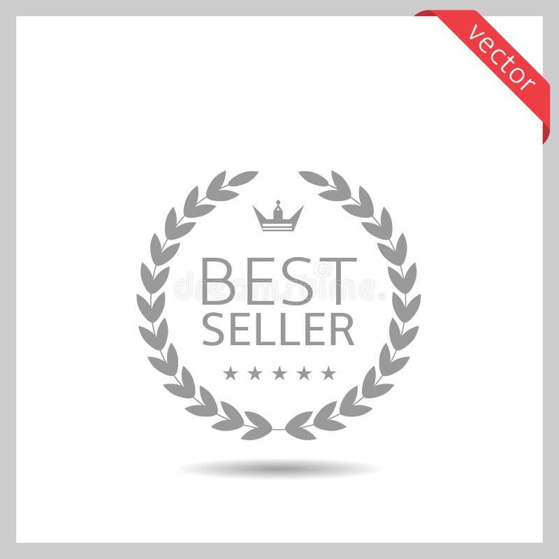 Ícone do melhor vendedor ilustração royalty free