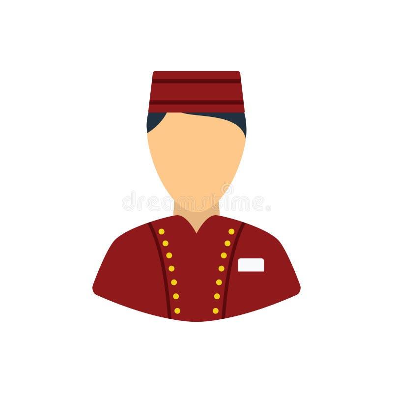 Ícone do menino do hotel ilustração royalty free