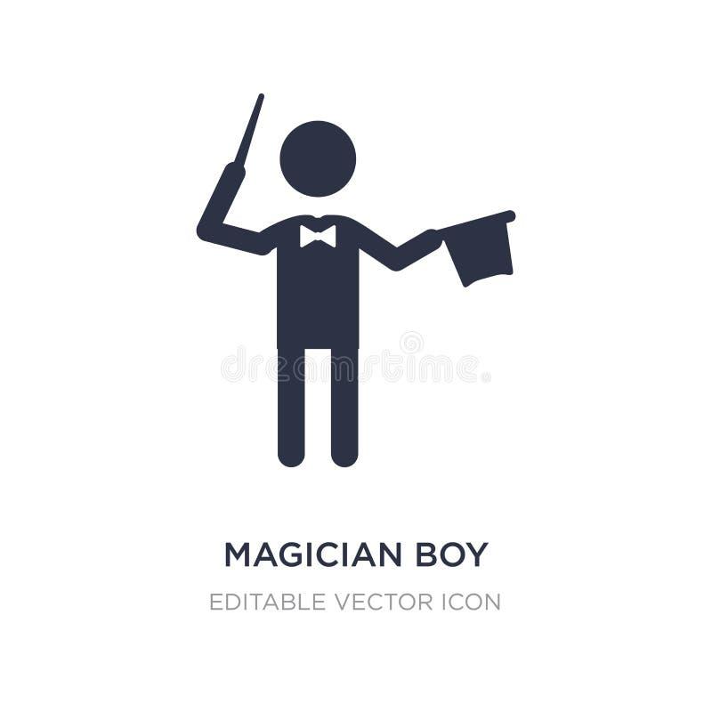 ícone do menino do mágico no fundo branco Ilustração simples do elemento do conceito dos povos ilustração royalty free