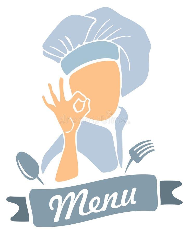 Ícone do menu ilustração stock