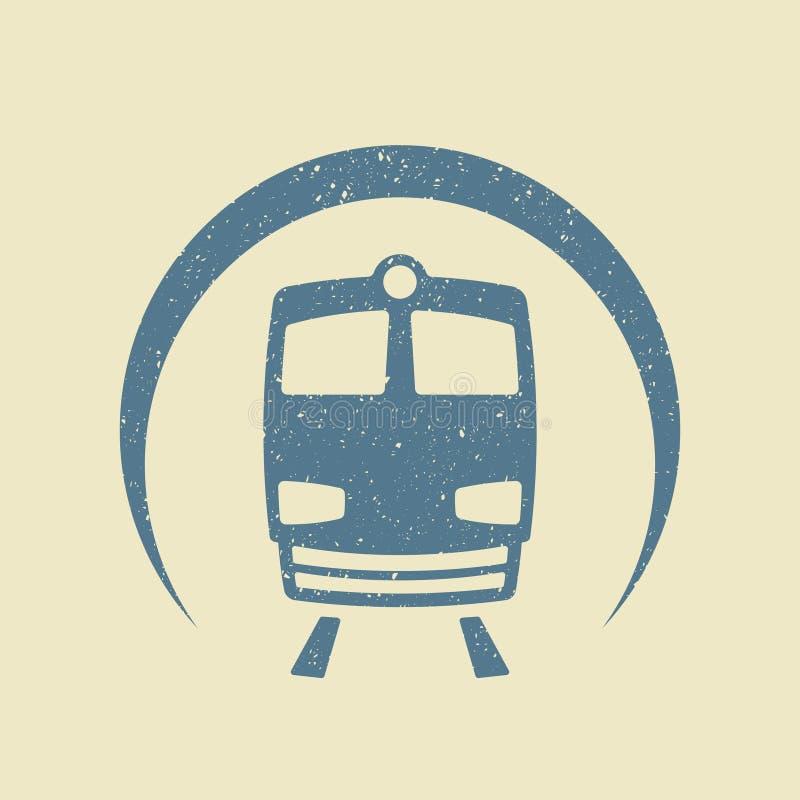Ícone do metro liso ilustração royalty free