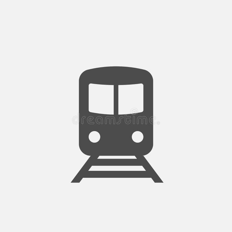 Ícone do metro Sinal do metro Símbolo do trem Ícone isolado no fundo branco Ilustração do vetor ilustração stock