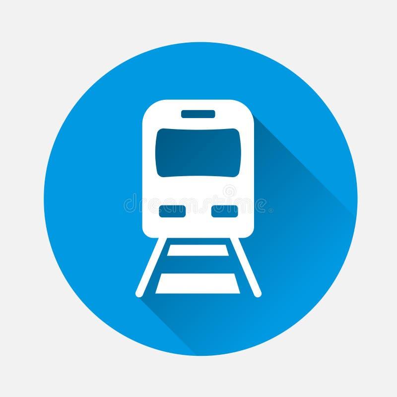 Ícone do metro do vetor Ilustração do ícone do metro no backgrou azul ilustração stock