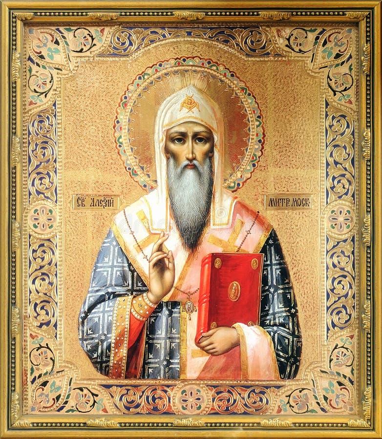 Ícone do metropolita de Alexius de Saint de Moscovo imagem de stock royalty free