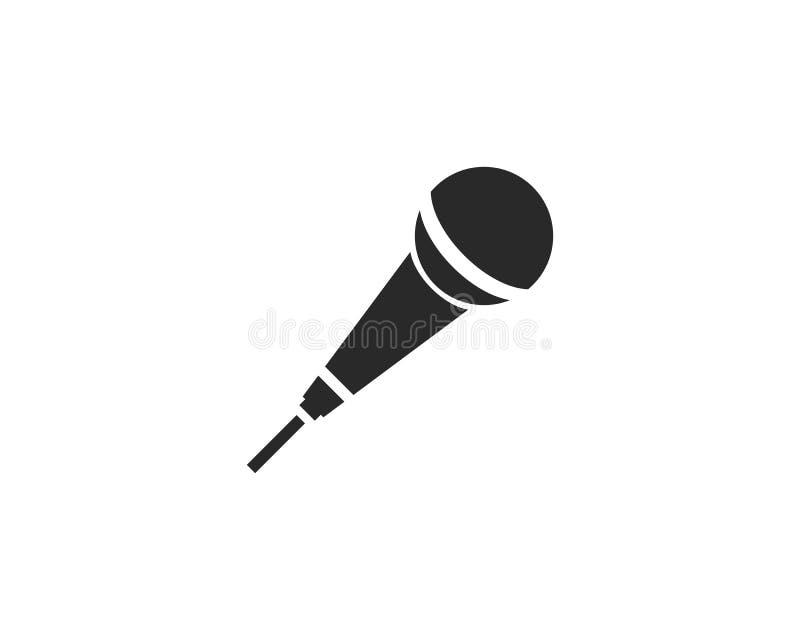 Ícone do microfone ilustração royalty free