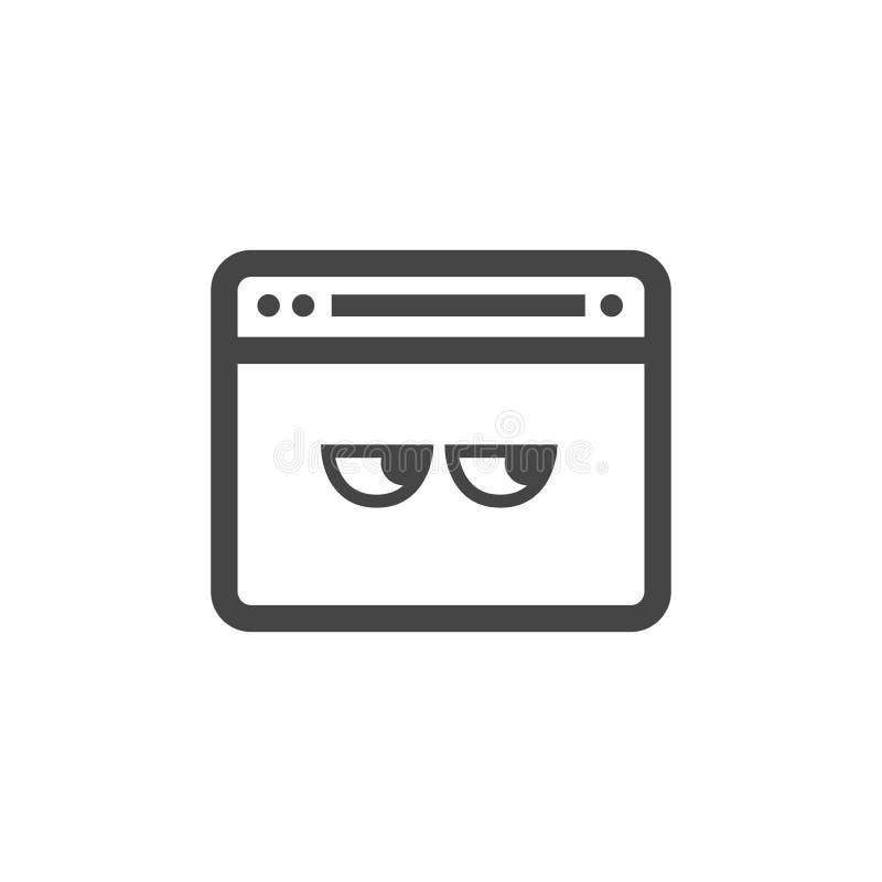 Ícone do modo da privacidade com característica e olhos de segurança ilustração stock