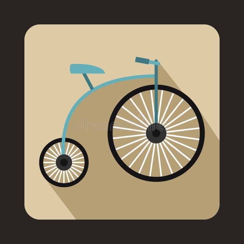 ícone do Moeda de um centavo-farthing, estilo liso ilustração royalty free
