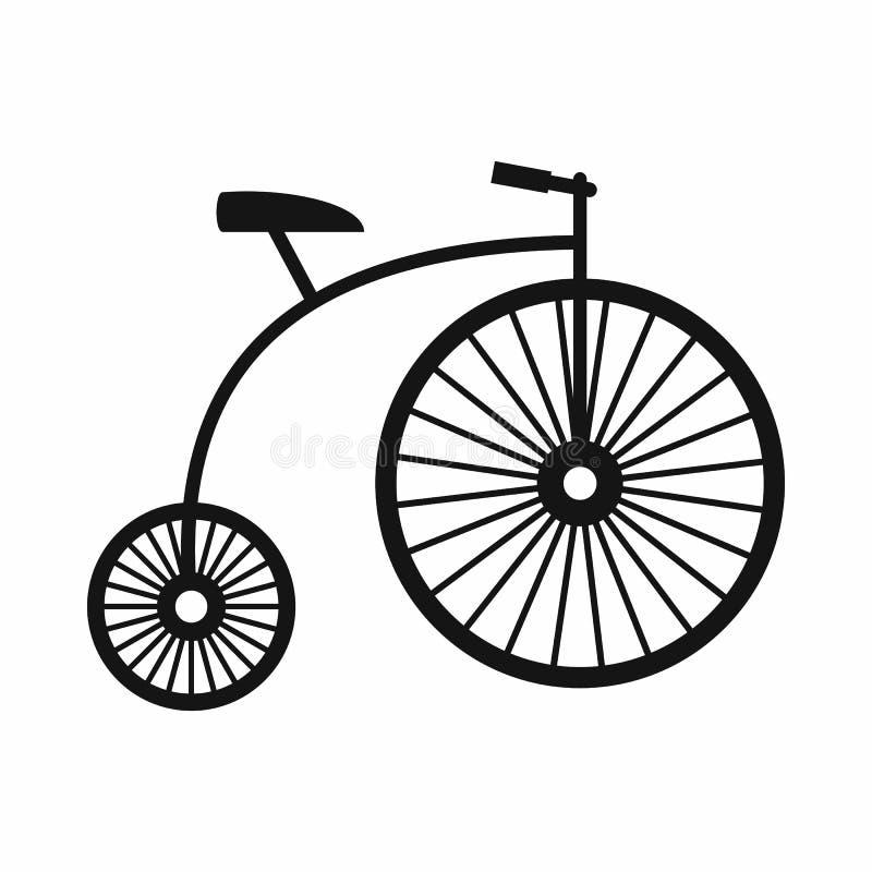 ícone do Moeda de um centavo-farthing, estilo simples ilustração stock