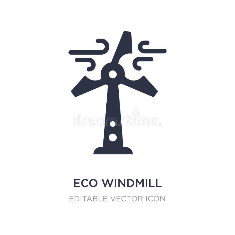ícone do moinho de vento do eco no fundo branco Ilustração simples do elemento do conceito da indústria ilustração do vetor