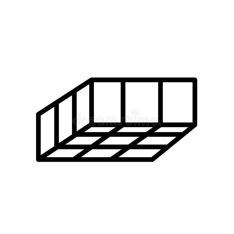Ícone do molde isolado no fundo branco ilustração stock