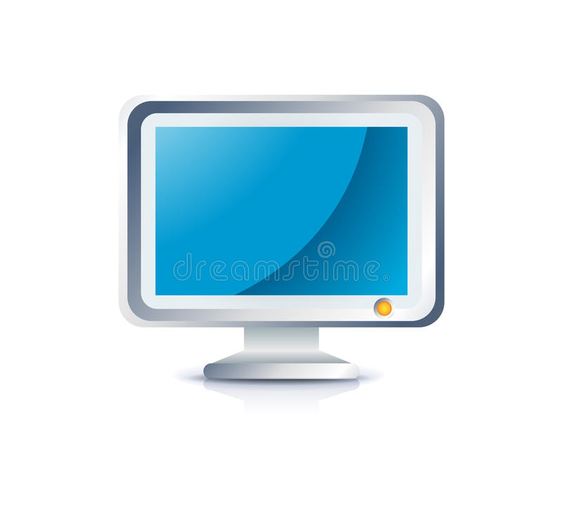 Ícone do monitor do Lcd ilustração royalty free