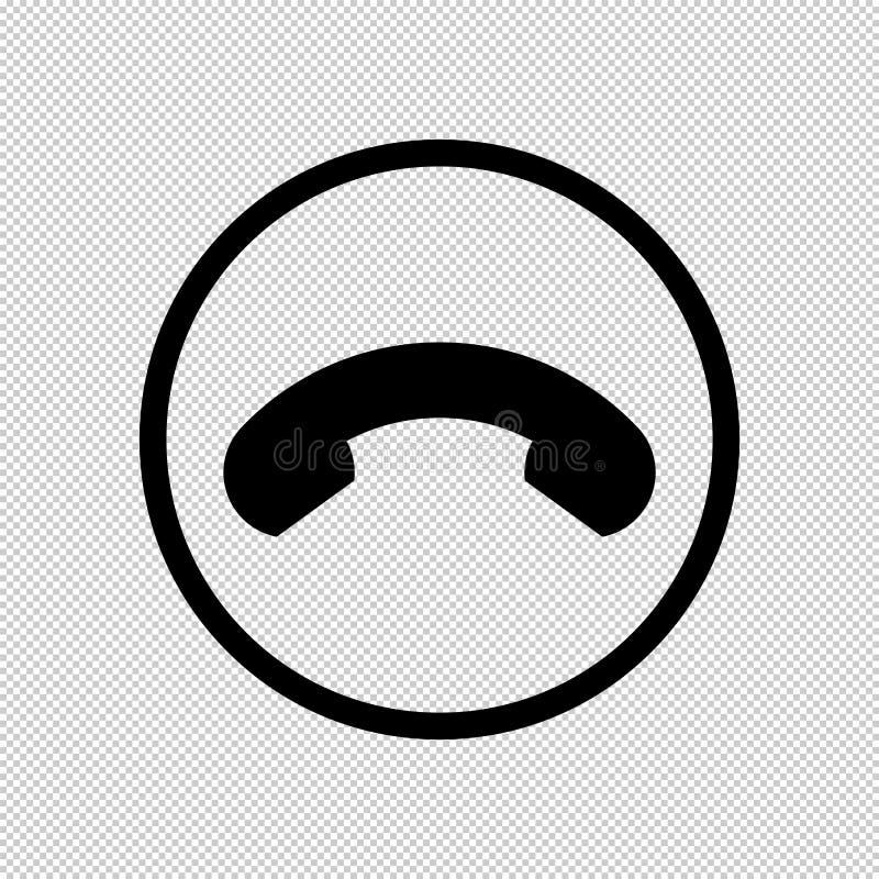 Ícone do monofone no fundo isolado para redes e o inst sociais ilustração royalty free