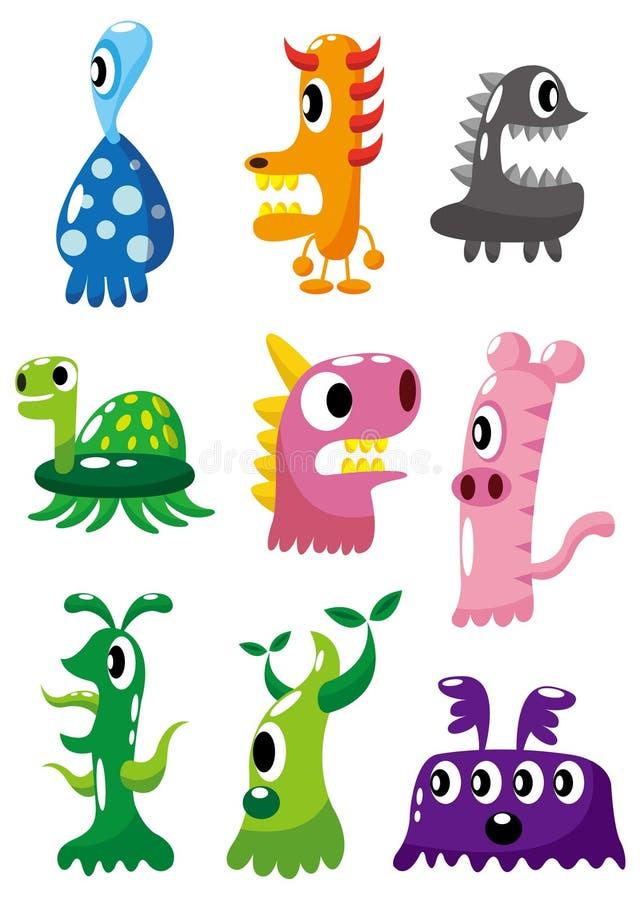 Ícone do monstro dos desenhos animados ilustração do vetor