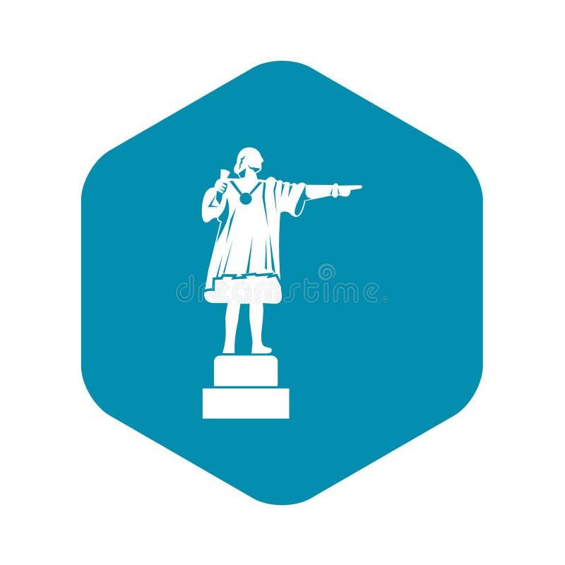 Ícone do monumento de Columbo, estilo simples ilustração royalty free