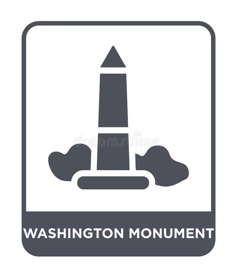 ícone do monumento de Washington no estilo na moda do projeto ícone do monumento de Washington isolado no fundo branco vetor do m ilustração royalty free