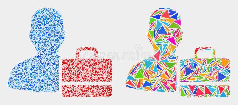 Ícone do mosaico do exemplo do usuário do vetor de elementos do triângulo ilustração royalty free