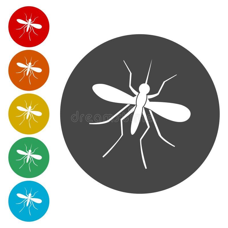 Ícone do mosquito ilustração do vetor