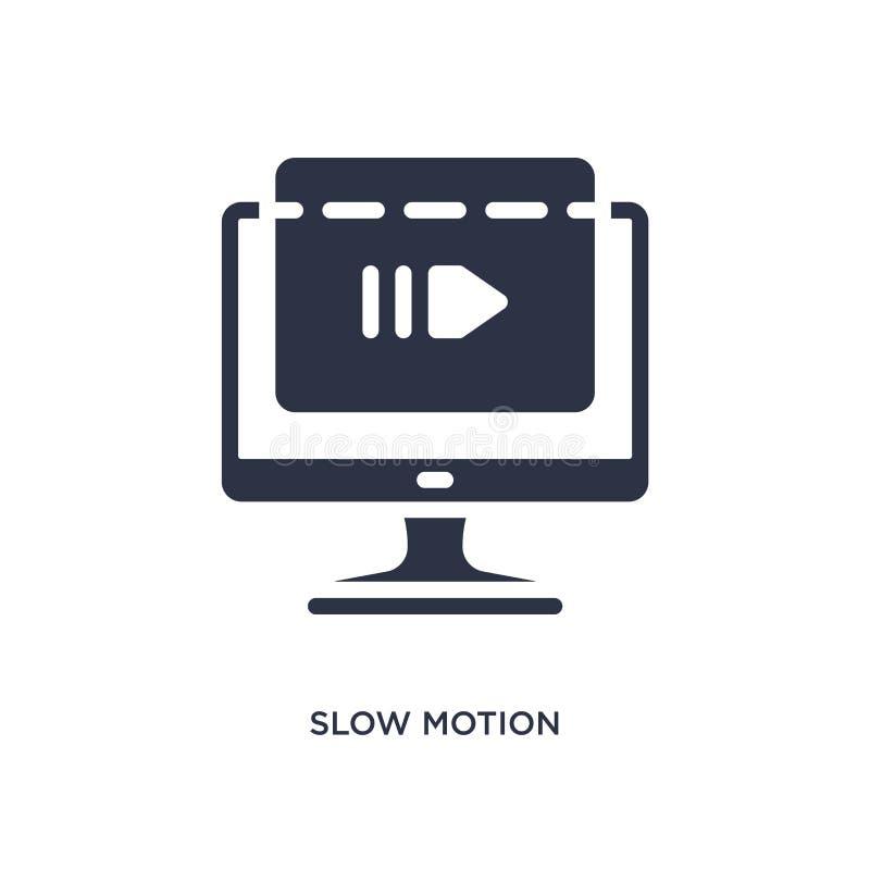 ícone do movimento lento no fundo branco Ilustração simples do elemento do conceito do cinema ilustração do vetor