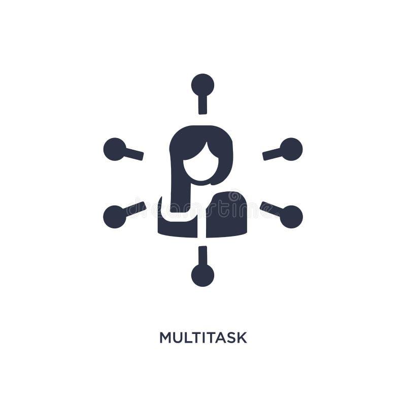 ícone do multitask no fundo branco Ilustração simples do elemento do conceito dos recursos humanos ilustração stock