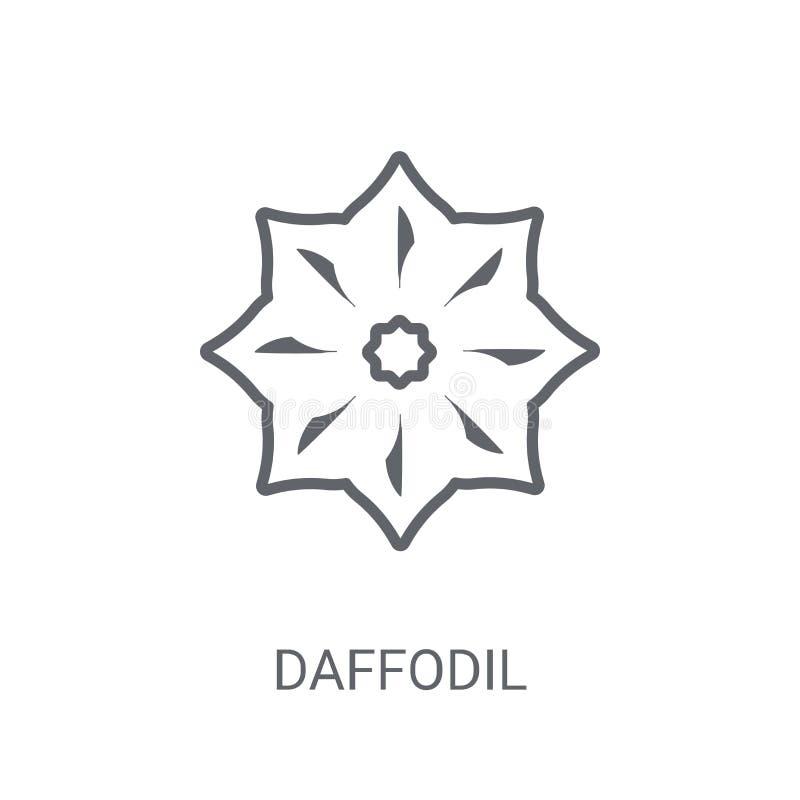 ícone do narciso amarelo Conceito na moda do logotipo do narciso amarelo no fundo branco ilustração do vetor