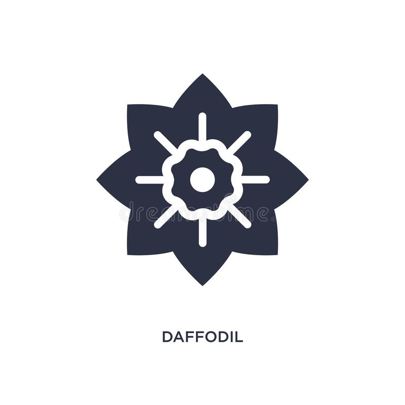ícone do narciso amarelo no fundo branco Ilustração simples do elemento do conceito da natureza ilustração stock