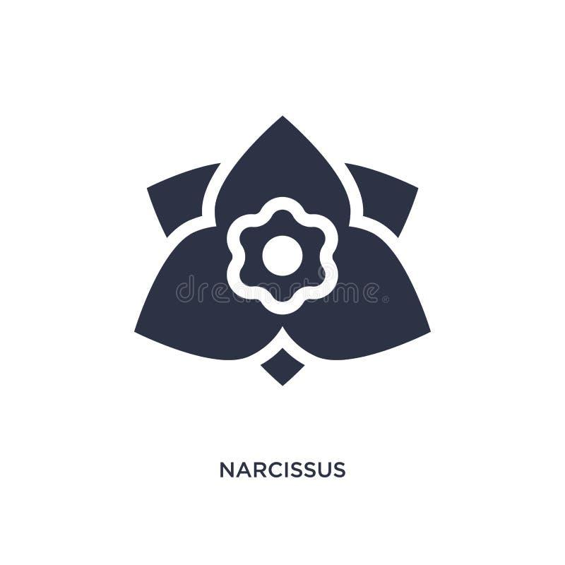 ícone do narciso no fundo branco Ilustração simples do elemento do conceito da natureza ilustração stock