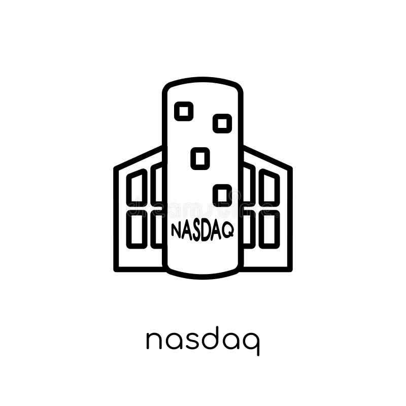 Ícone do Nasdaq  ilustração do vetor