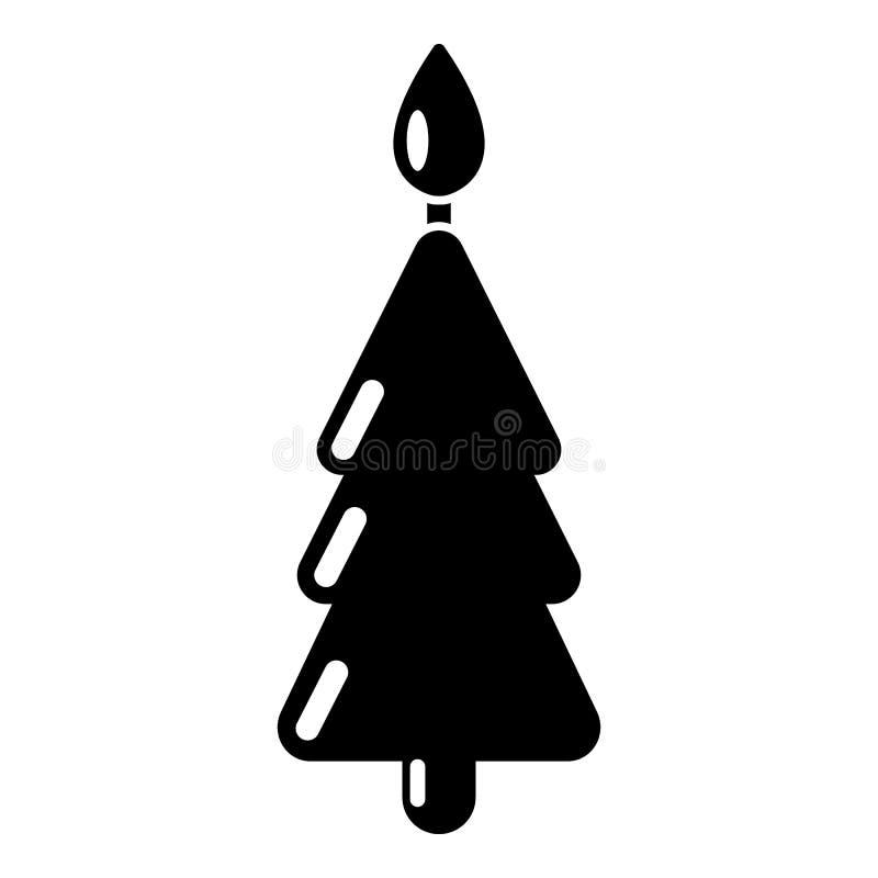 Ícone do Natal da vela, estilo preto simples ilustração do vetor
